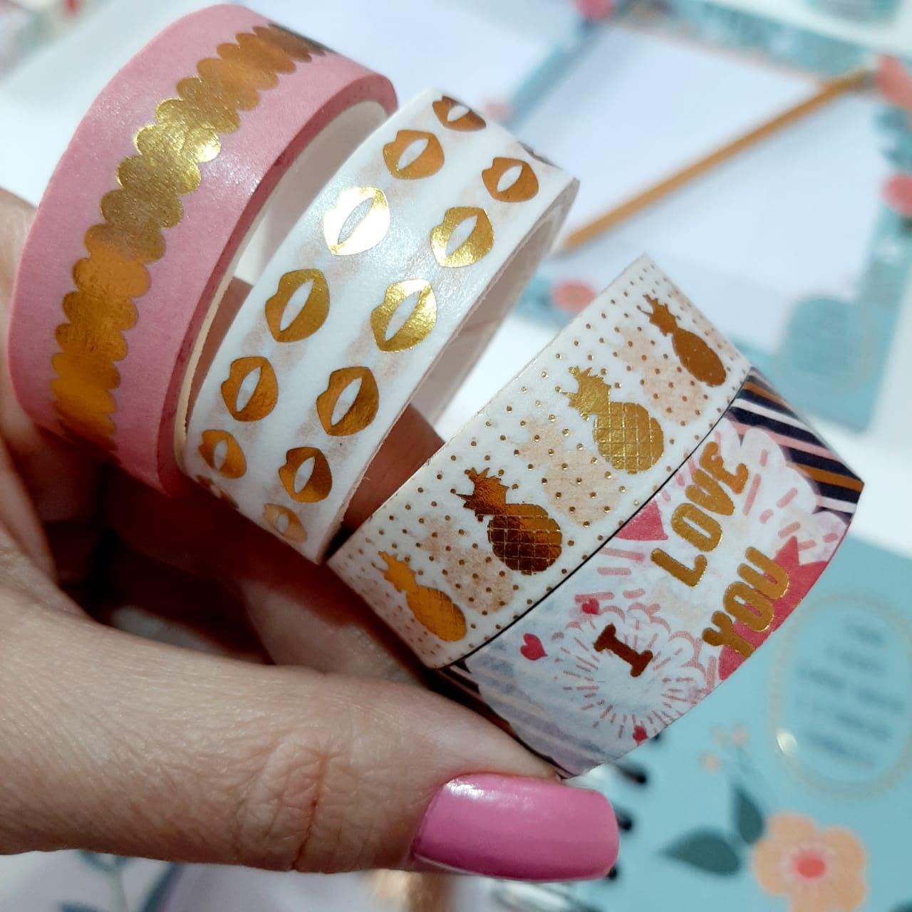 Washi Tape com Foil Molin 2 Unitária