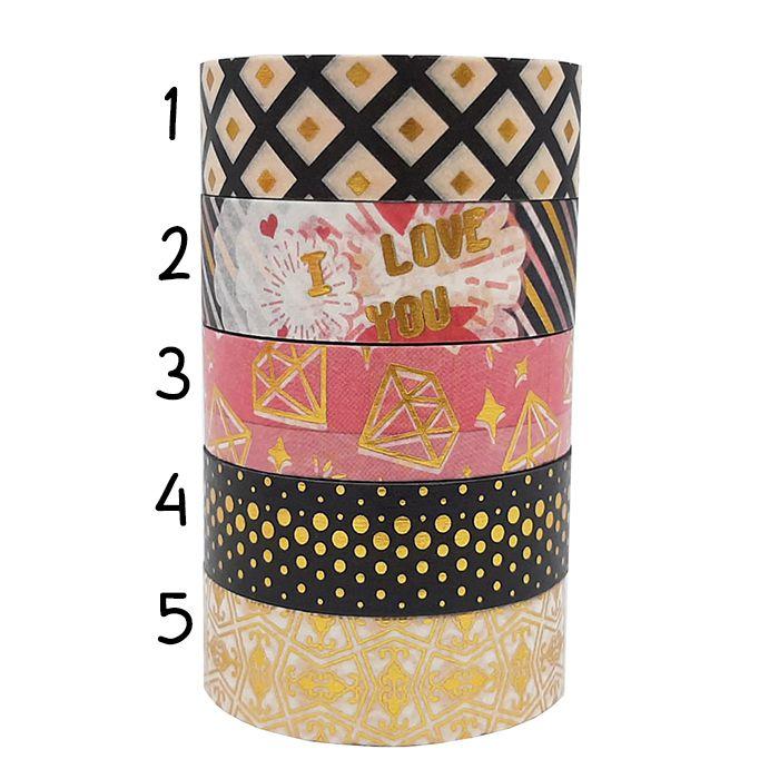 Washi Tape com Foil 1 Molin Unitária