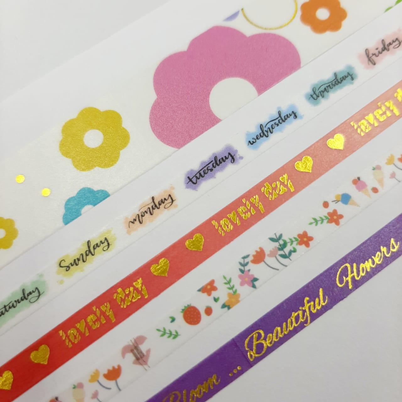 Washi Tape Love Molin 5 Unidades Lançamento Floral 1