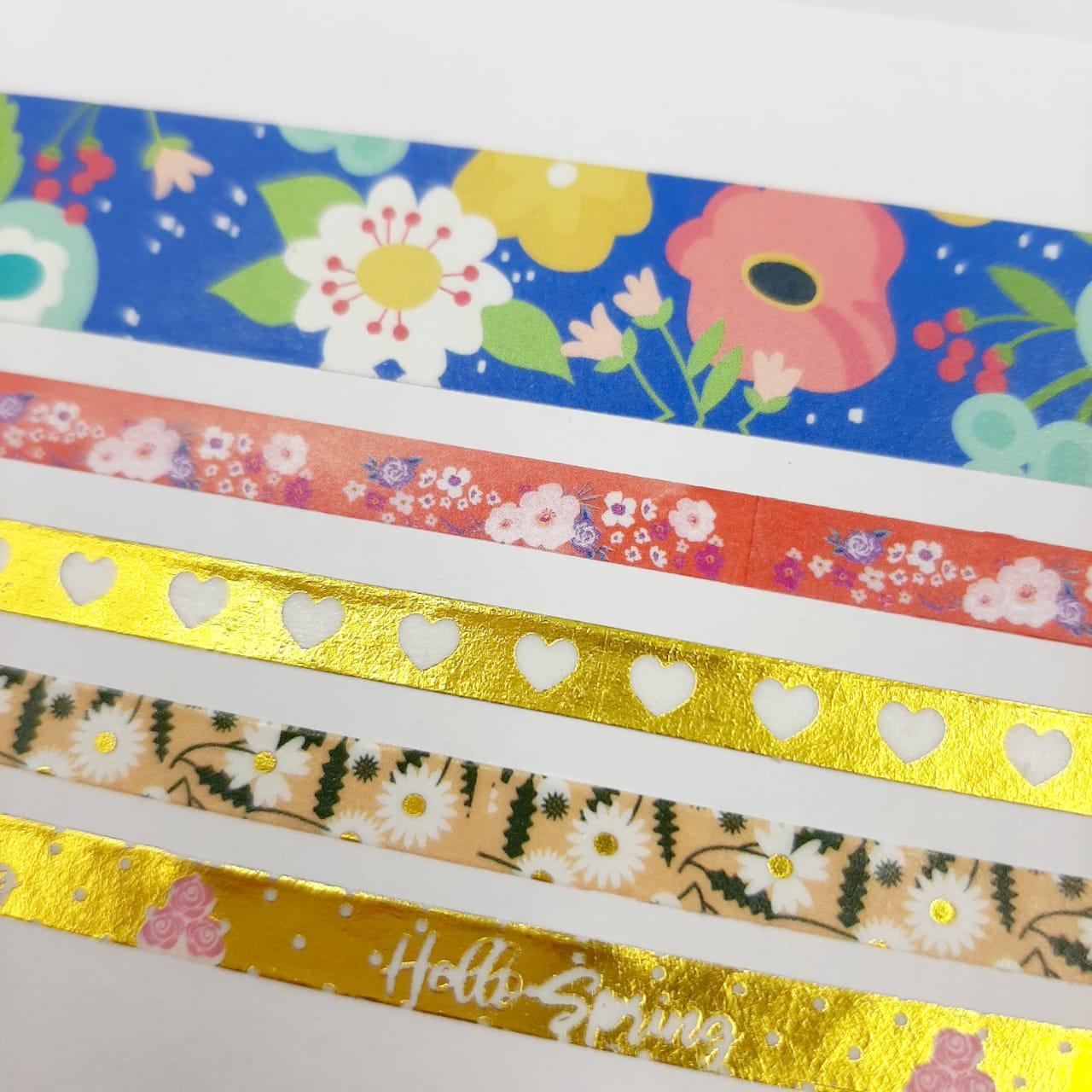 Washi Tape Love Molin 5 Unidades Lançamento Floral 2