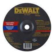 Disco de Desbaste DEWALT para Aço Inox e Metal 115-6,3-22