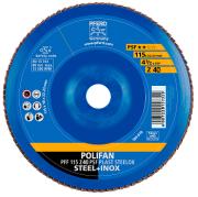 Disco Flap Pferd Polifan PSF Steelox costado de plástico 115 Grão 40