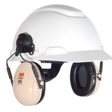Capacete 3M H700 Branco Suspenção Ajuste Facil com Abafador H6P3E
