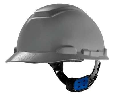 Capacete 3M H700 Cinza suspenção Ajuste Facil com Abafador Muffler
