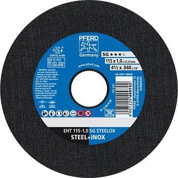 Disco de Corte para Inox PFERD EHT SG STEELOX 115-1,0