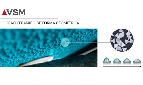 DISCO DE FIBRA VSM ACTIROX AF799 180 LIXA GRÃO CERÂMICO 36