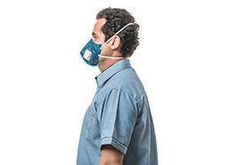 Máscara de Proteção Respiratória Dobrável 3M 9822+BR PFF-2(S)/N95 com válvula