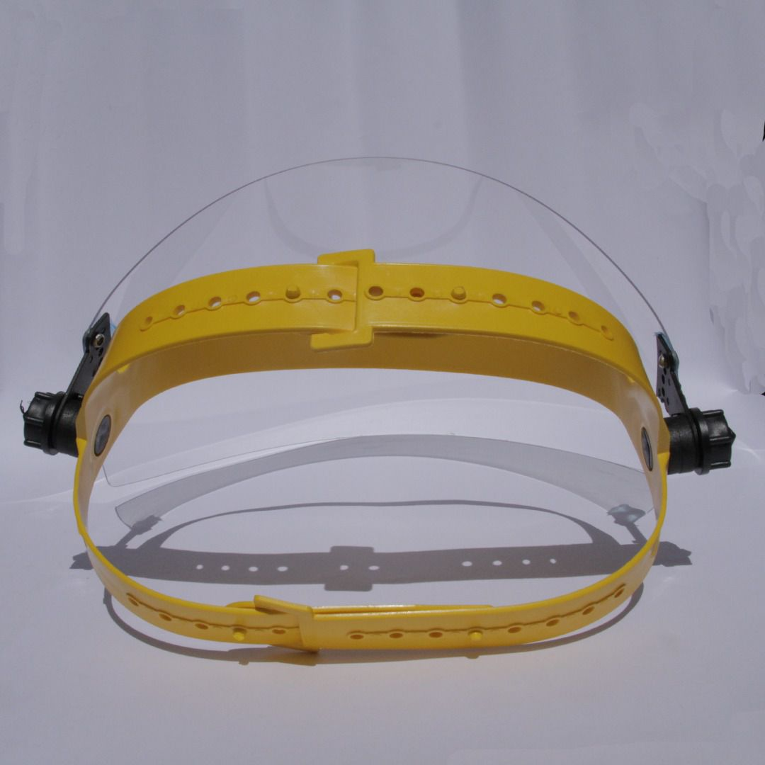 Protetor Facial para proteção da face, olhos, nariz e boca.