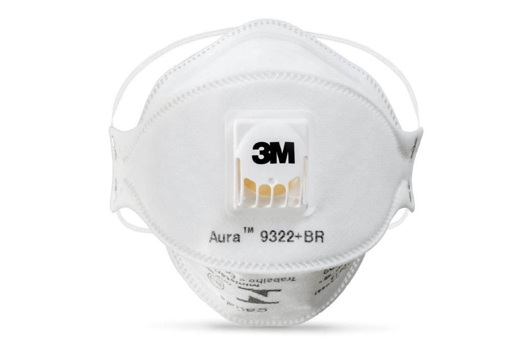Respirador Descartável 3M PFF2 Aura com Valvula 9322+BR