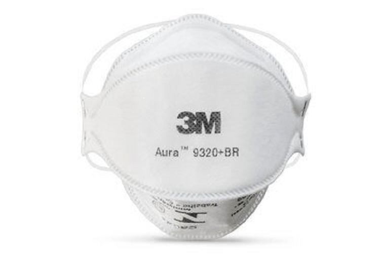 Respirador Descartável 3M PFF2 Aura sem Válvula 9320+BR