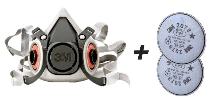 Respirador Semi facial 3M Série 6200 Com filtro 2078