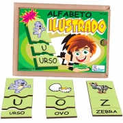 Alfabeto Ilustrado em Português Associação de Imagens Letras e Palavras - Simque
