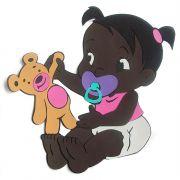 Bebê Morena Com Urso em Eva