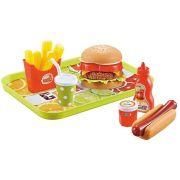 Combo de Lanche Hambúrguer de Brinquedo