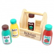 Brinquedo de Madeira Coleção Comidinha Kit Bebidas Refrescantes - Newart