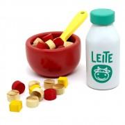 Brinquedo de Madeira Coleção Comidinha Kit Leite com Cereais - NewArt