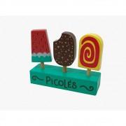 Brinquedo de Madeira Coleção Comidinha Kit Picolés - NewArt