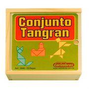 Conjunto Tangran 70 Peças Caixa de Madeira