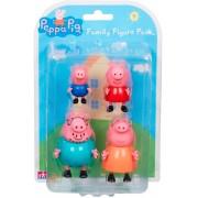 Familia Peppa Pig Pack com 4 Bonecos Articulados - Sunny
