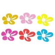 Flor em Eva com Glitter - Kit com 6 Unidades