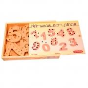 Jogo Educativo de Números com Pinos - Carimbras