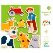 Jogo Magnético de Madeira Fazenda - Djeco