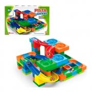 Pista Labirinto Blocos de Montar 128 Peças - Ark Toys