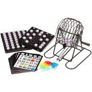 Kit Jogo de Bingo Com Cartelas e Fichas