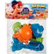 Kit Praia e Areia com Forminhas para Modelar 10 Peças - Plasbrink