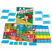 Loto Leitura Associação de Palavras Brinquedo Educativo de Alfabetização Infantil - Simque