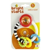 Mordedor Chocalho Rattle Around Teething Toy Bright Starts