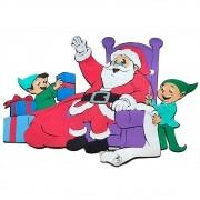 Papai Noel No Trono com Gnomos em Eva