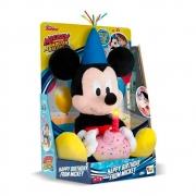 Pelúcia Mickey Happy Birthday com Som - Multikids
