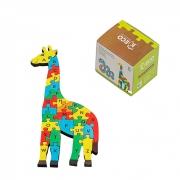 Quebra-Cabeça Educativo de Girafa com Letras do Alfabeto em Madeira -  Keco