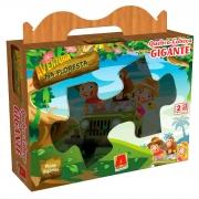 Quebra-Cabeça Gigante Aventura na Floresta 12 Peças - Algazarra brinquedos