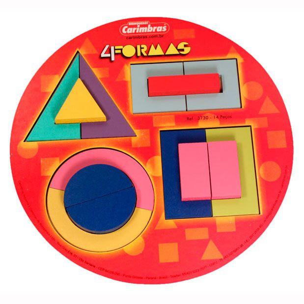 4 Formas - Quebra Cabeça de Formas Geométricas