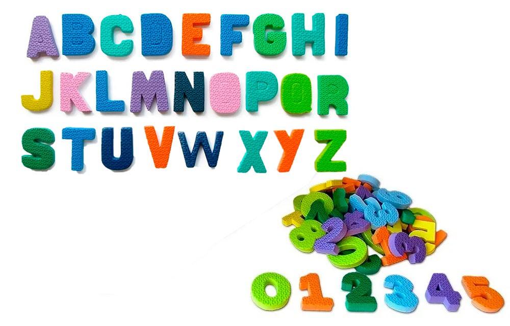 5 Alfabetos Movel + 5 jogos de Números de 0 a 9 em Eva