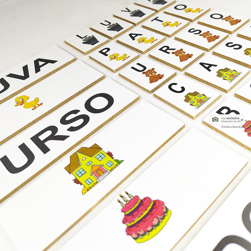 Alfabeto Divertido em Madeira Mdf com 60 Peças - Jott Play