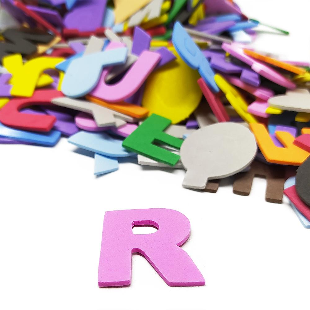 Alfabeto em EVA para Sala de Aula 570 Letras Coloridas 3 cm
