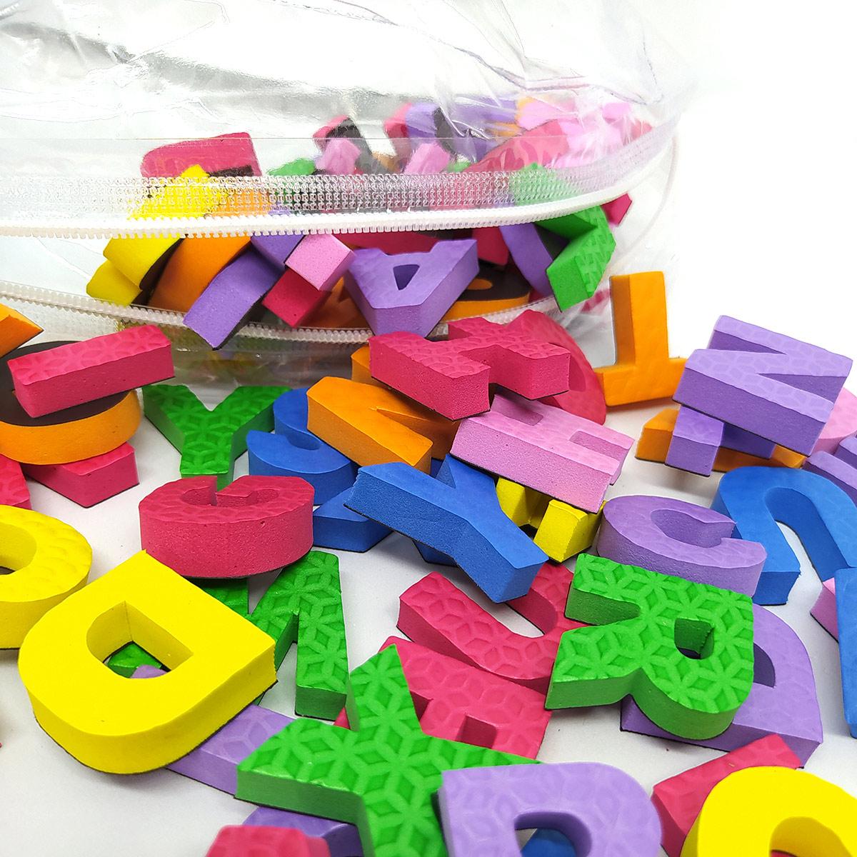 Alfabeto Magnético 88 Letras com Imã e 30 Números Imantados