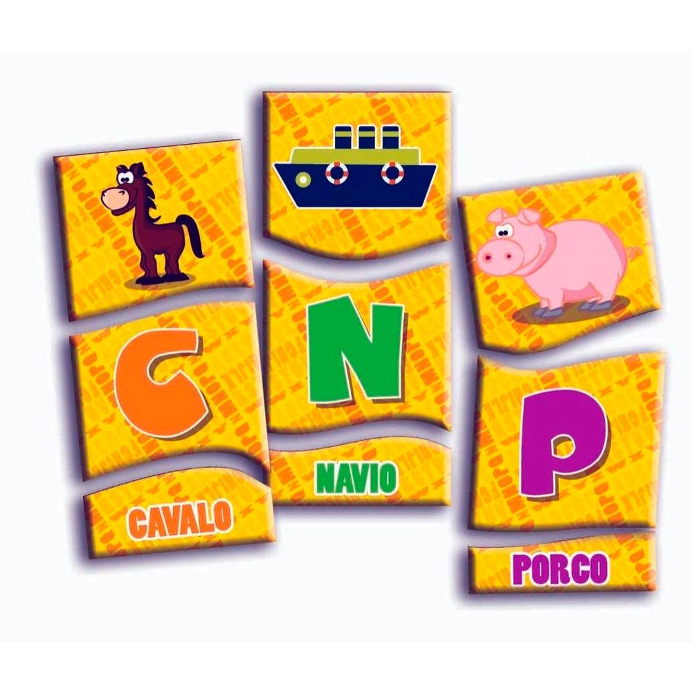 Aprendendo o Alfabeto com 72 Peças em Madeira