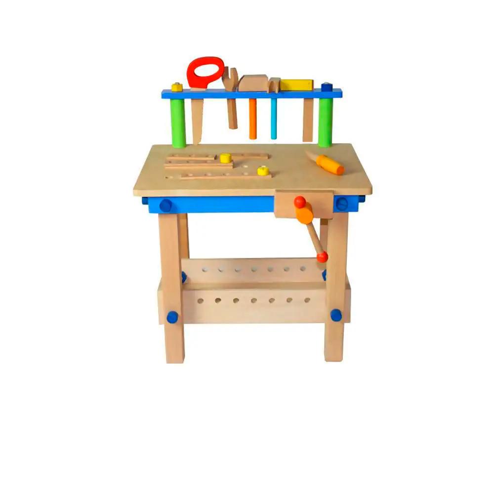 Bancada de Ferramentas Infantil em Madeira - Mario Brinquedos