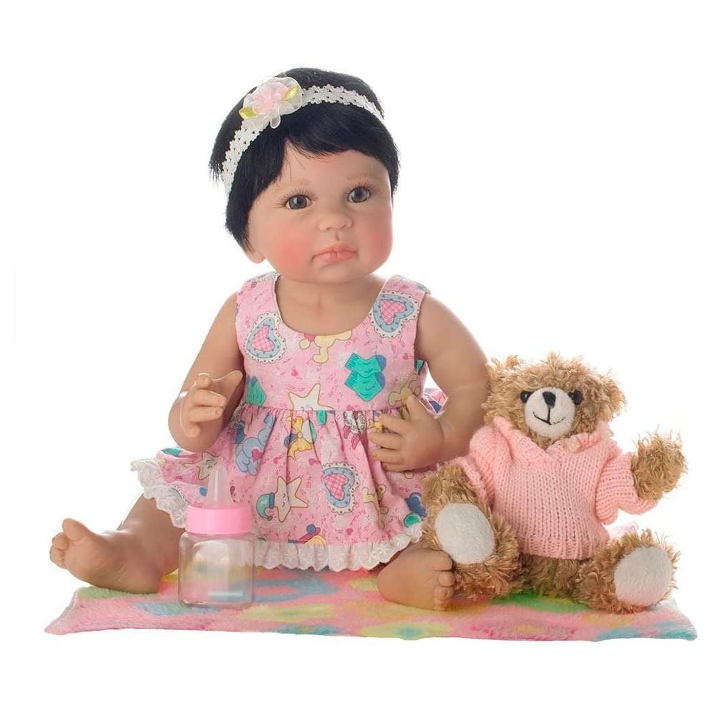 Boneca Laura Baby Newborn Liz Morena - Shiny Toys