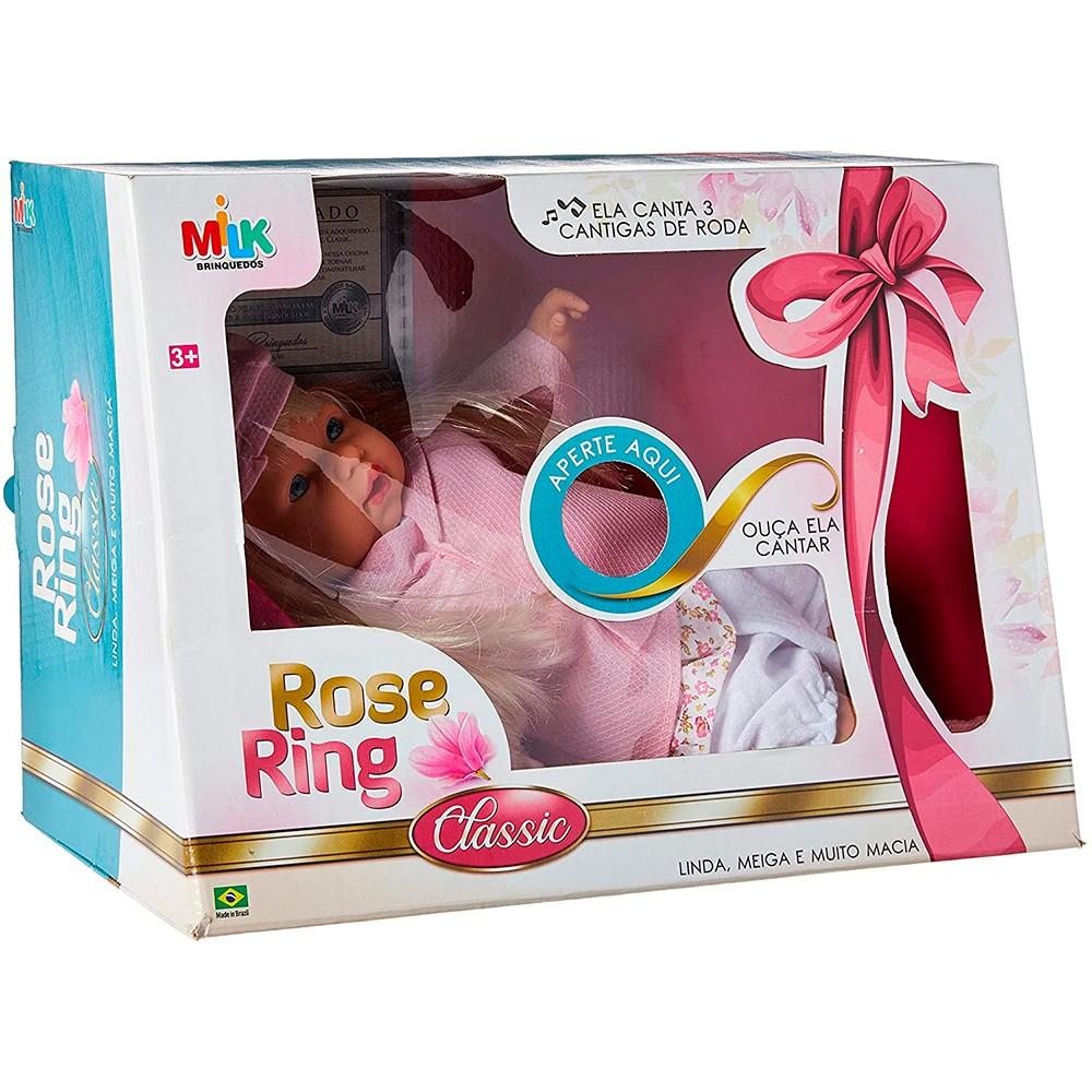 Boneca Bebê Rose Ring Classic  Canta 3 cantigas de roda