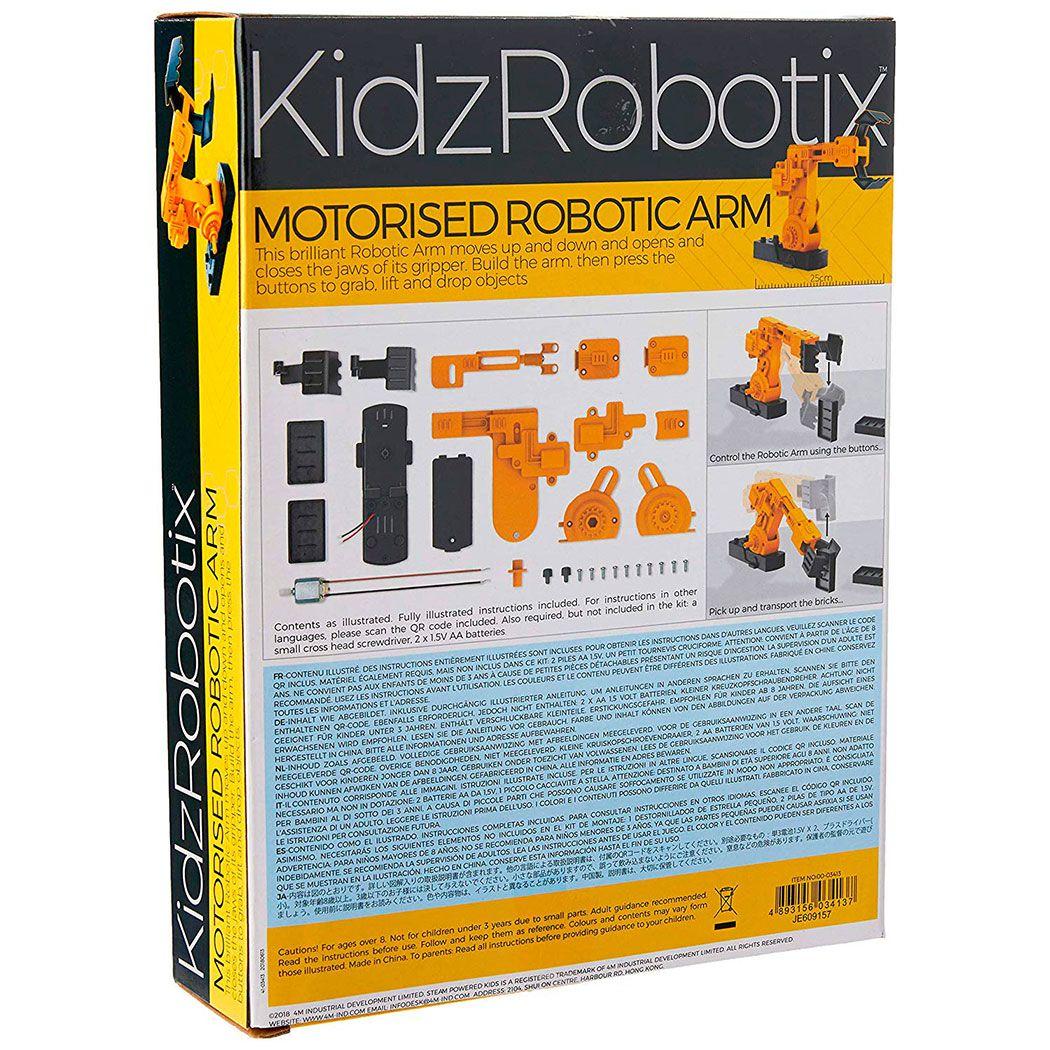 Braço Robótico Motorizado KidzRobotix - 4M