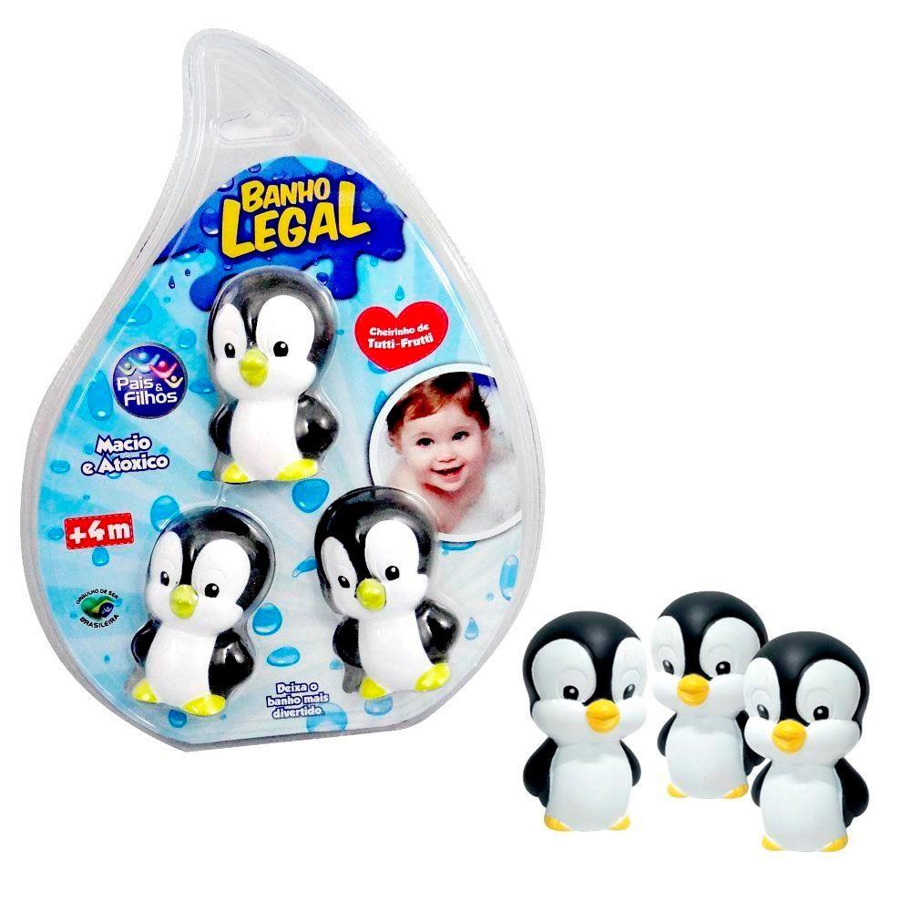 Brinquedo de Banho Pinguim com 3 Unidades - Pais & Filhos