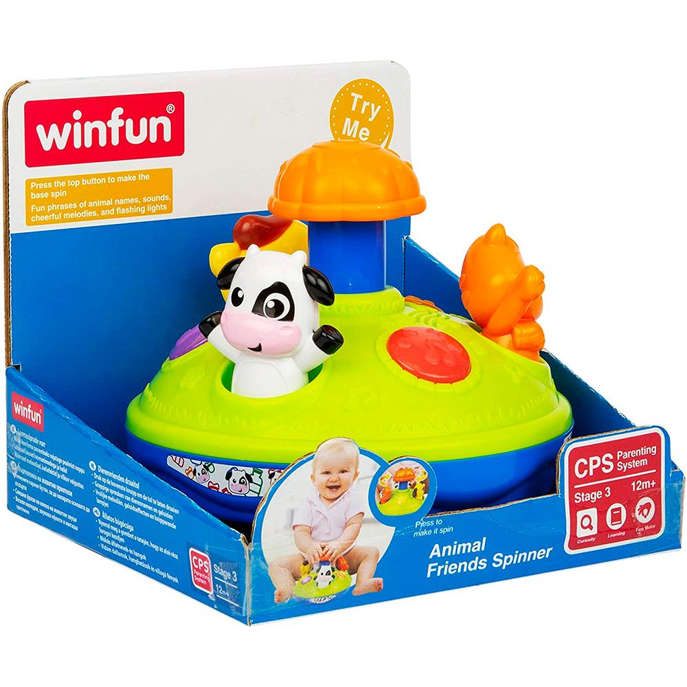 Brinquedo Infantil Gira Gira Amigos Animais com Luz e Som Para Bebês - Winfun