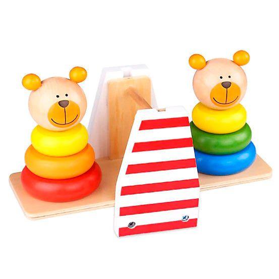 Brinquedo Ursinhos de Equilíbrio em Madeira - Tooky Toy