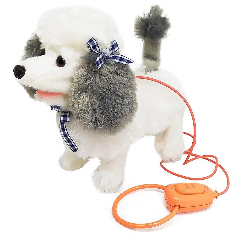 Cachorro de Brinquedo que Anda e Late Interativa Playfull Pets - Passeio Divertido