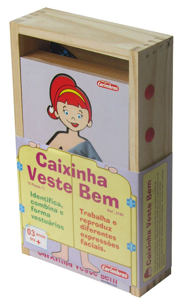 Caixinha Veste Bem - Brinquedo Educativo